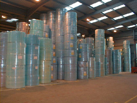 large stock pile at warehouse to meet any large catering orders for printed, personalised, tissue, napkins & serviettes